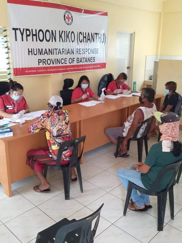 PRC Batanes Chapter Aids Victims of TY Kiko