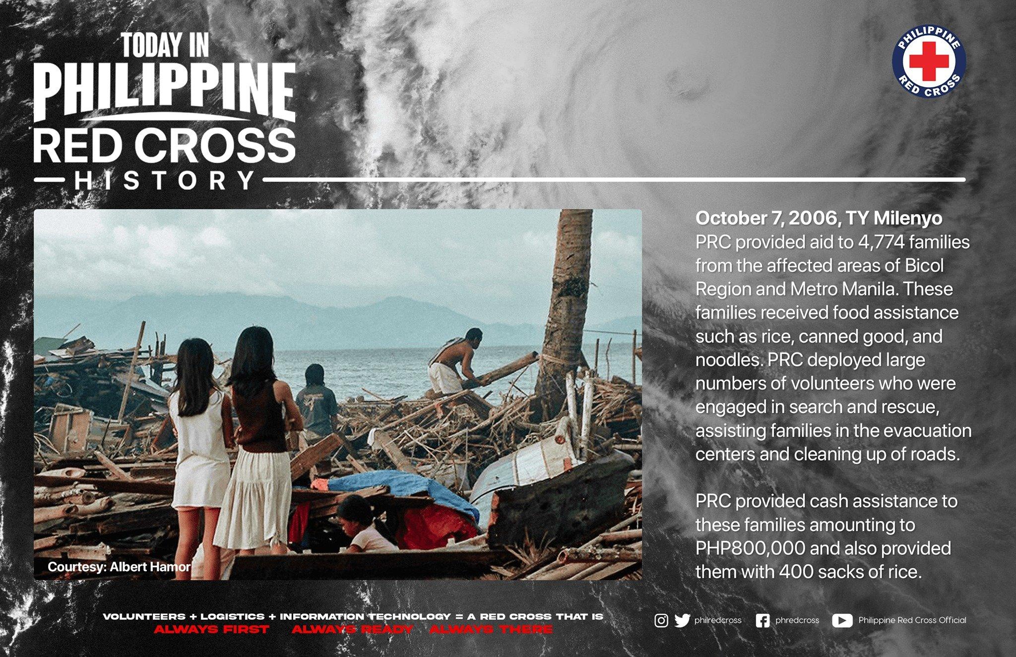 Philippine Red Cross Typhoon Milenyo Operations